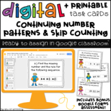 Digital Task Cards for Google Classroom™: Continuing Number Patterns
