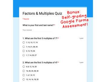 Digital Task Cards for Google Classroom™: Factors & Multiples