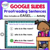 Google Classroom First Grade PROOFREADING SENTENCES Digital Task Cards
