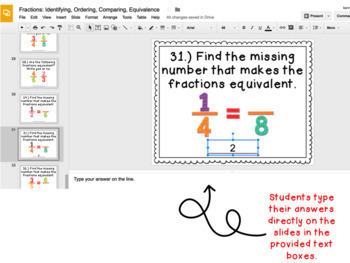 Digital Task Cards for Google Classroom™: Fractions