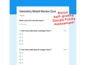 Digital Task Cards for Google Classroom: Geometry