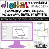 Google Classroom™ Activities: Geometry Digital Task Cards