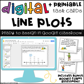 Digital Task Cards for Google Classroom™: Line Plots