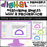 Digital Task Cards for Google Classroom™: Measuring Angles with a Protractor