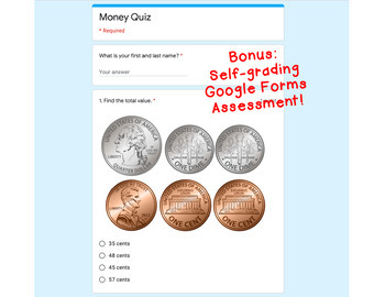 Digital Task Cards for Google Classroom: Money