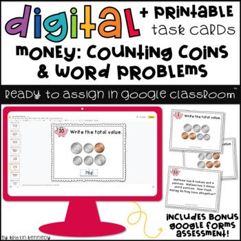 Digital Task Cards for Google Classroom™: Money