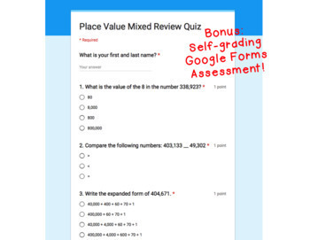 Digital Task Cards for Google Classroom: Place Value