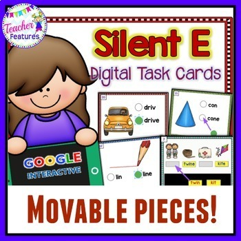Google Classroom Phonics First Grade SILENT E/ CVCe Word Sort