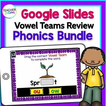 Google Classroom Activities VOWEL TEAMS BUNDLE 2nd & 3rd grade