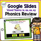 Google Classroom Activities for ELA   VOWEL TEAMS   ie, ea, ee, ey, y