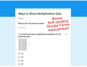 Digital Task Cards for Google Classroom: Ways to Show Multiplication