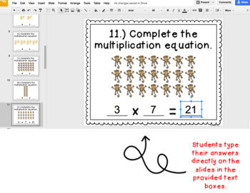 Digital Task Cards for Google Classroom™: Ways to Show Multiplication