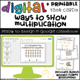 Digital Task Cards for Google Classroom™: Ways to Show Mul