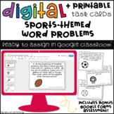 Digital Math Task Cards for Google Classroom™: Word Problems