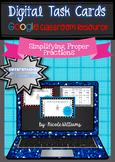 Digital Task Cards for Google Drive- Simplifying Proper Fractions