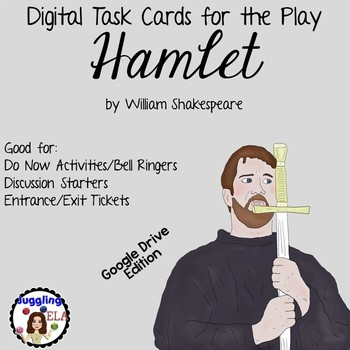 Digital Task Cards for Hamlet by William Shakespeare (Google Drive Edition)