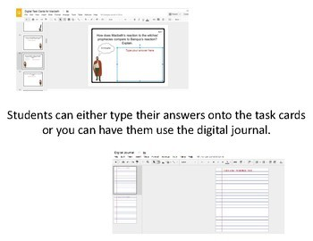 Digital Task Cards for Macbeth by William Shakespeare (Google Drive Edition)