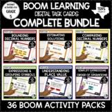 Digital Task Cards for Math Bundle   Boom Cards Distance Learning