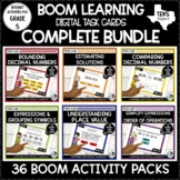 Digital Task Cards for Math Bundle | Boom Cards Distance Learning