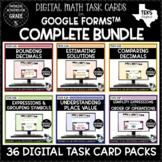 Digital Task Cards for Math Bundle   Google Forms Distance
