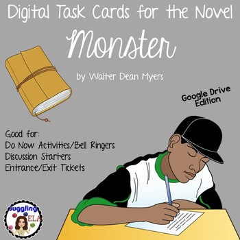Digital Task Cards for Monster by Walter Dean Myers (Google Drive Edition)