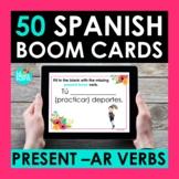 Present Tense AR Verbs BOOM CARDS | Digital Task Cards | D