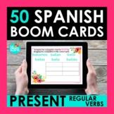 Regular Present Tense Verbs Spanish BOOM CARDS | Digital T