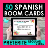 Regular Preterite Verbs BOOM CARDS | Digital Task Cards