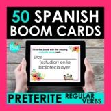 Regular Preterite Verbs BOOM CARDS   Digital Task Cards