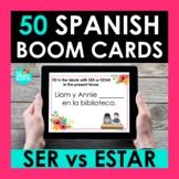 SER vs ESTAR Spanish BOOM CARDS   Digital Task Cards