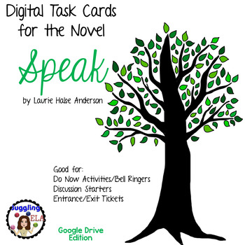 Digital Task Cards for Speak by Laurie Halse Anderson (Google Drive Edition)