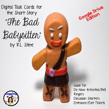 """Digital Task Cards for """"The Bad Babysitter"""" by R.L. Stine (Google Drive Edition)"""
