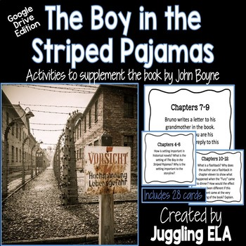 Digital Task Cards for The Boy in the Striped Pajamas (Google Drive Edition)