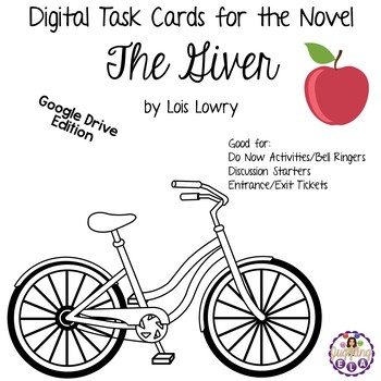 Digital Task Cards for The Giver by Lois Lowry (Google Drive Edition)