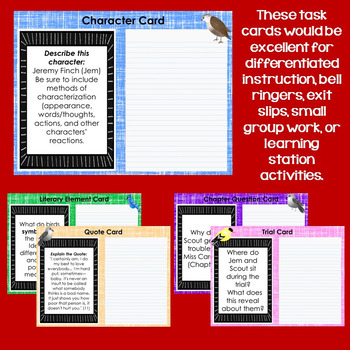 Digital Task Cards for To Kill a Mockingbird by Harper Lee