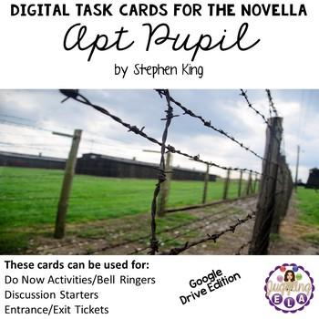 Digital Task Cards for the Novella Apt Pupil (Google Drive Edition)