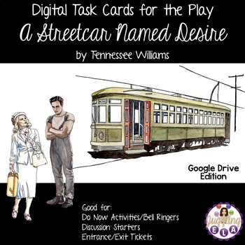 Digital Task Cards for the Play A Streetcar Named Desire (Google Drive Edition)