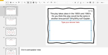 Digital Task Cards for the Play Fences by August Wilson (Google Drive Edition)