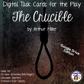 Digital Task Cards for the Play The Crucible by Arthur Miller (Google Drive)