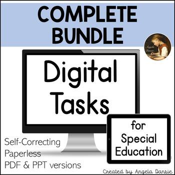 Digital Tasks for Special Education | Complete Bundle