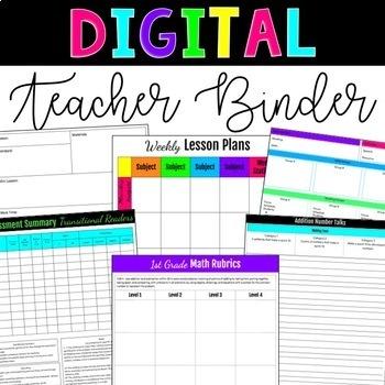 Digital Teacher Binder