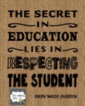 Digital Teacher Inspirational Quote Instant Download Poster