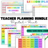 Digital Teacher Lesson Planner BUNDLE   Digital + Print  
