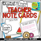 Digital Teacher Note Cards   Distance Learning   Growth Mindset