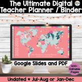 Digital Teacher Planner 2021 Jan-Dec AND 2020-2021 Aug-Jul