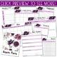 Digital Teacher Planner 2019-2020 Purple Watercolor Succulents (Google Drive)