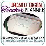 Digital Teacher Planner /GoodNotes/Note-taking Apps