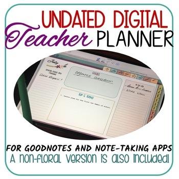 Digital Teacher Planner /GoodNotes/Note-taking Apps