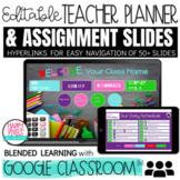 Digital Teacher Planner / Daily Schedule / Distance Learni