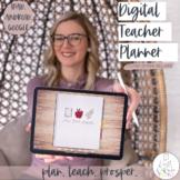 Digital Teacher Planner | Edit on iPad, tablet, Google | P